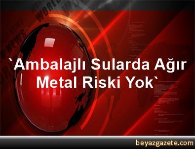 'Ambalajlı Sularda Ağır Metal Riski Yok'