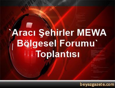 'Aracı Şehirler MEWA Bölgesel Forumu' Toplantısı