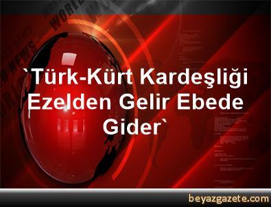 'Türk-Kürt Kardeşliği Ezelden Gelir, Ebede Gider'