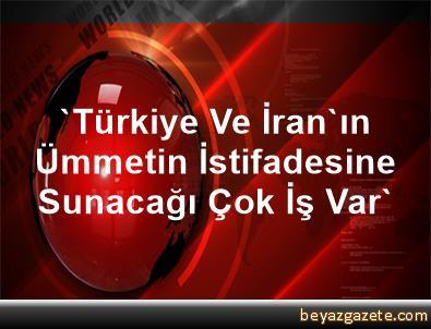 'Türkiye Ve İran'ın Ümmetin İstifadesine Sunacağı Çok İş Var'
