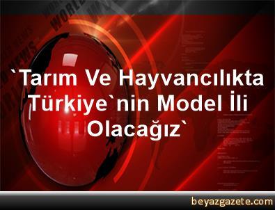 'Tarım Ve Hayvancılıkta Türkiye'nin Model İli Olacağız'