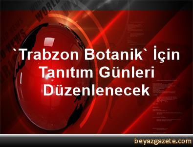 'Trabzon Botanik' İçin Tanıtım Günleri Düzenlenecek