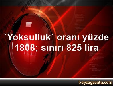 'Yoksulluk' oranı yüzde 18,08; sınırı 825 lira