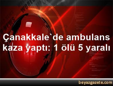 Çanakkale'de ambulans kaza yaptı: 1 ölü, 5 yaralı