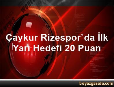 Çaykur Rizespor'da İlk Yarı Hedefi 20 Puan