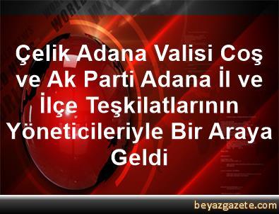 Çelik, Adana Valisi Coş ve Ak Parti Adana İl ve İlçe Teşkilatlarının Yöneticileriyle Bir Araya Geldi