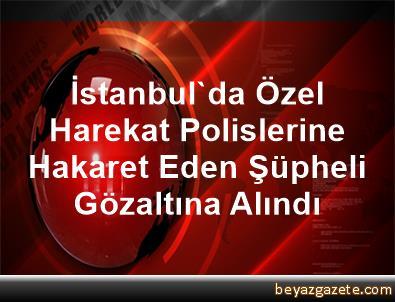 İstanbul'da, Özel Harekat Polislerine Hakaret Eden Şüpheli Gözaltına Alındı