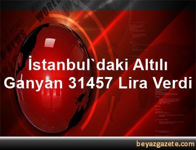 İstanbul'daki Altılı Ganyan 314,57 Lira Verdi