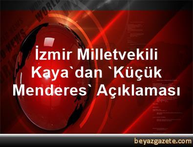 İzmir Milletvekili Kaya'dan, 'Küçük Menderes' Açıklaması