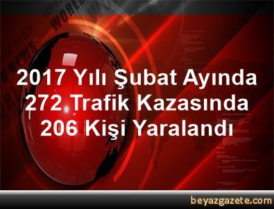 2017 Yılı Şubat Ayında 272 Trafik Kazasında 206 Kişi Yaralandı