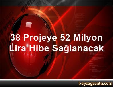38 Projeye 52 Milyon Lira Hibe Sağlanacak