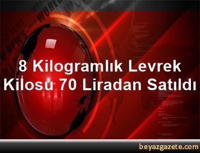 8 Kilogramlık Levrek Kilosu 70 Liradan Satıldı
