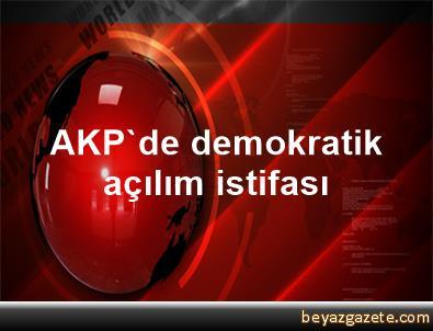 AKP'de demokratik açılım istifası