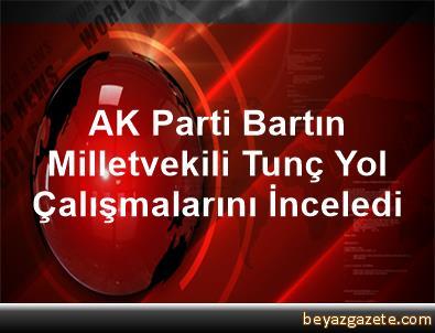 AK Parti Bartın Milletvekili Tunç, Yol Çalışmalarını İnceledi