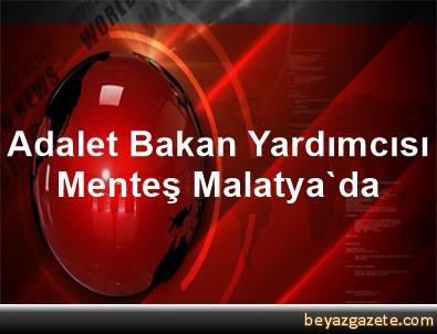 Adalet Bakan Yardımcısı Menteş, Malatya'da