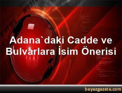 Adana'daki Cadde ve Bulvarlara İsim Önerisi