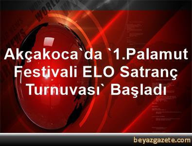 Akçakoca'da '1.Palamut Festivali ELO Satranç Turnuvası' Başladı