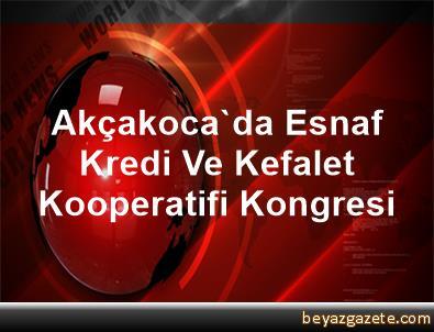 Akçakoca'da Esnaf Kredi Ve Kefalet Kooperatifi Kongresi