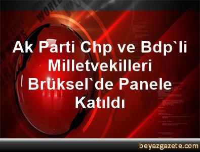 Ak Parti, Chp ve Bdp'li Milletvekilleri, Brüksel'de Panele Katıldı