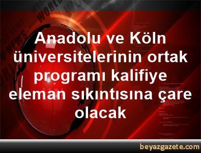 Anadolu ve Köln üniversitelerinin ortak programı, kalifiye eleman sıkıntısına çare olacak