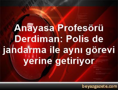 Anayasa Profesörü Derdiman: Polis de jandarma ile aynı görevi yerine getiriyor