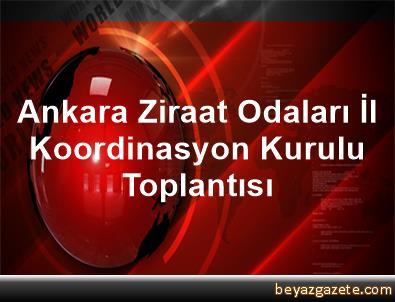 Ankara Ziraat Odaları İl Koordinasyon Kurulu Toplantısı