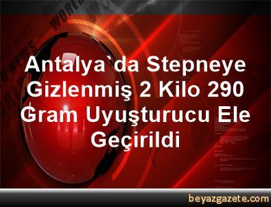 Antalya'da Stepneye Gizlenmiş 2 Kilo 290 Gram Uyuşturucu Ele Geçirildi