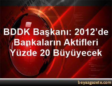 BDDK Başkanı: 2012'de Bankaların Aktifleri Yüzde 20 Büyüyecek