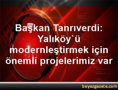 Başkan Tanrıverdi: Yalıköy'ü modernleştirmek için önemli projelerimiz var