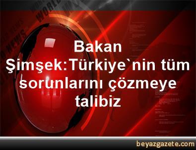 Bakan Şimşek:Türkiye'nin tüm sorunlarını çözmeye talibiz