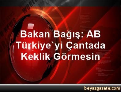 Bakan Bağış: AB,  Türkiye'yi Çantada Keklik Görmesin