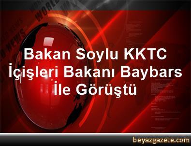 Bakan Soylu, KKTC İçişleri Bakanı Baybars İle Görüştü