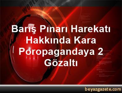 Barış Pınarı Harekatı Hakkında Kara Poropagandaya 2 Gözaltı