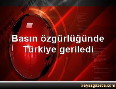 Basın özgürlüğünde Türkiye geriledi