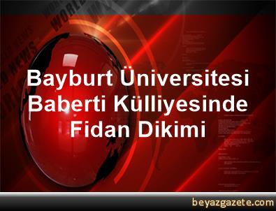 Bayburt Üniversitesi Baberti Külliyesinde Fidan Dikimi