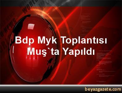 Bdp Myk Toplantısı Muş'ta Yapıldı