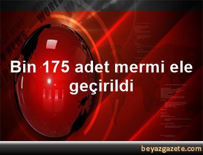 Bin 175 adet mermi ele geçirildi