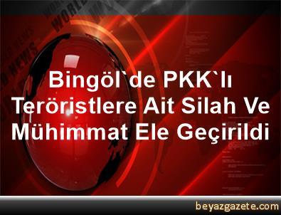 Bingöl'de PKK'lı Teröristlere Ait Silah Ve Mühimmat Ele Geçirildi