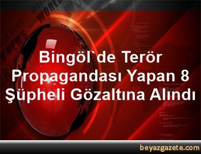 Bingöl'de Terör Propagandası Yapan 8 Şüpheli Gözaltına Alındı