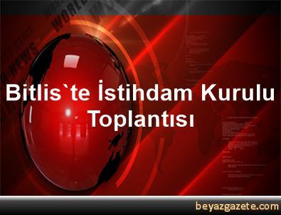Bitlis'te İstihdam Kurulu Toplantısı