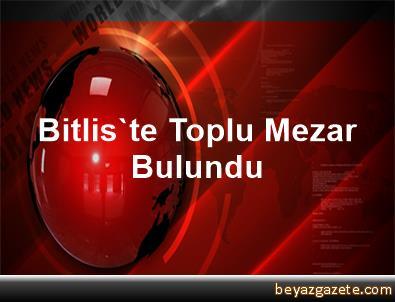 Bitlis'te Toplu Mezar Bulundu