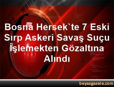Bosna Hersek'te 7 Eski Sırp Askeri Savaş Suçu İşlemekten Gözaltına Alındı