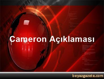 Cameron Açıklaması