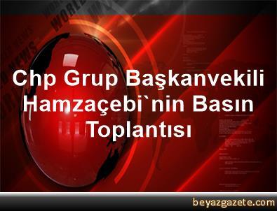 Chp Grup Başkanvekili Hamzaçebi'nin Basın Toplantısı