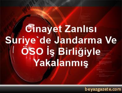 Cinayet Zanlısı, Suriye'de Jandarma Ve ÖSO İş Birliğiyle Yakalanmış