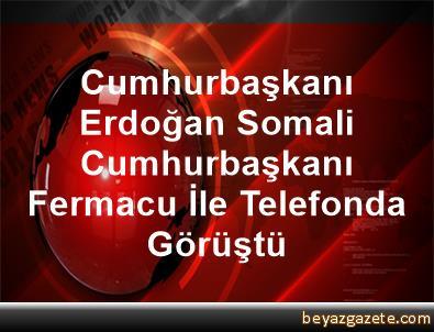 Cumhurbaşkanı Erdoğan, Somali Cumhurbaşkanı Fermacu İle Telefonda Görüştü