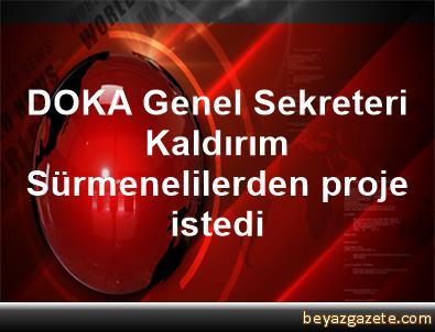 DOKA Genel Sekreteri Kaldırım, Sürmenelilerden proje istedi