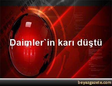 Daimler'in karı düştü
