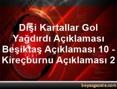 Dişi Kartallar Gol Yağdırdı Açıklaması Beşiktaş Açıklaması 10 - Kireçburnu Açıklaması 2