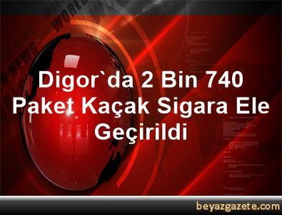 Digor'da 2 Bin 740 Paket Kaçak Sigara Ele Geçirildi